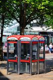 Telephone boxes, Coventry. Stock Images