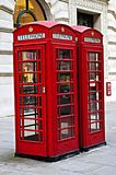 Telephone boxes in London Stock Photos