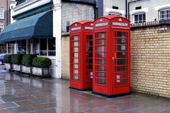 Telephone boxes, London. Image was taken in 298 December 2010 in London Royalty Free Stock Photography