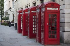 Telephone Boxes, London Royalty Free Stock Photos