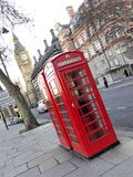 Telephone boxes in London Stock Photo