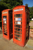 Telephone boxes for rent. Southport floral town Merseyside. Royalty Free Stock Photography