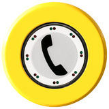 Telephone button Stock Photography