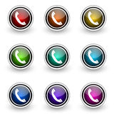 Telephone button set Stock Photos