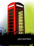 Telephone cabin. A red london telephone box or cabin Stock Photos