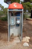 Telephone cabin. In Australian outback Royalty Free Stock Photography