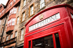 Telephone cabin at Edinburgh Stock Photo