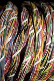 Telephone cable 1. Telephone cable with colorful wires as a background royalty free stock photos