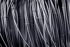 Telephone cable gray color Stock Images