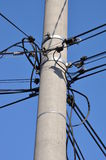 Telephone cable lines Stock Photos