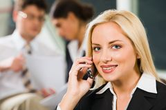 Telephone call Stock Image