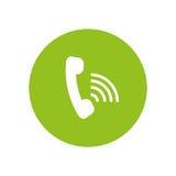 Telephone call center. Icon vector illustration graphic design Stock Photo