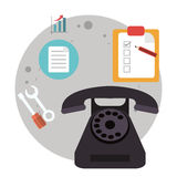 Telephone call center logistic Royalty Free Stock Photography