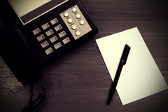 Telephone Call Center Note Royalty Free Stock Images