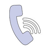 Telephone call center symbol Stock Image