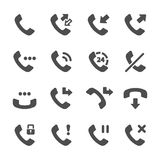 Telephone call icon set, vector eps10 Royalty Free Stock Photo