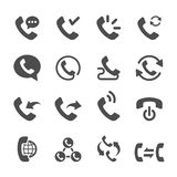 Telephone call icon set 2, vector eps10 Stock Image
