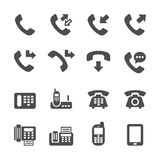 Telephone call icon set 4, vector eps10 Royalty Free Stock Photography