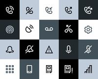 Telephone and call logs icons. Flat. Series Stock Images