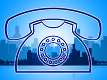 Telephone Call Shows Communicate Chatting And Solution Royalty Free Stock Photo