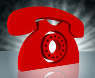 Telephone Call Shows Question Information And Chat Stock Photos