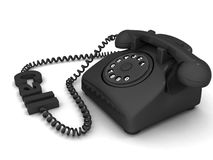 Telephone with call text Royalty Free Stock Image