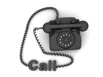 Telephone with call word Stock Photography