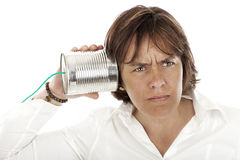 Telephone can Royalty Free Stock Photography