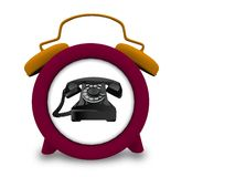 Telephone in a clock Royalty Free Stock Photo