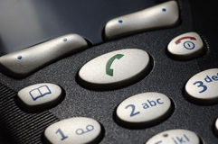Telephone close-up. Close-up of phone dial numbers Stock Photo