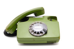 Telephone collection - old analogue disk phone Stock Images