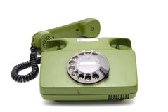 Telephone collection - old analogue disk phone Stock Photography