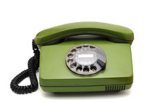Telephone collection - old analogue disk phone Royalty Free Stock Image