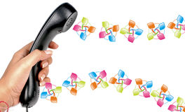 Telephone communication Royalty Free Stock Photos