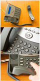 Telephone communication contact Stock Photos
