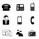 Telephone and communication Icons Stock Photo