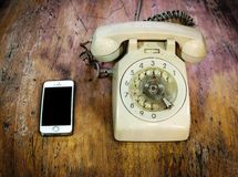 Telephone comparison Stock Image