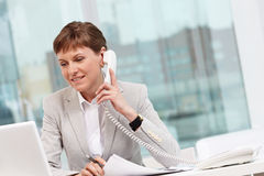 Telephone consultation Stock Photo