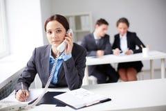 Telephone consultation Stock Image
