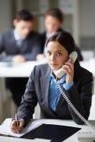 Telephone consultation Stock Photo