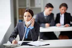 Telephone consultation Stock Photography