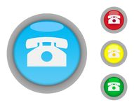 Telephone contact buttons Royalty Free Stock Photos
