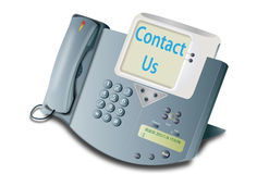 Telephone contact us Royalty Free Stock Photos