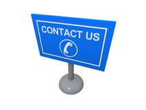Telephone contact us sign Stock Photography