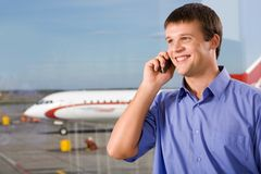 Telephone conversation Royalty Free Stock Image