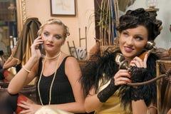 Telephone conversation royalty free stock photo