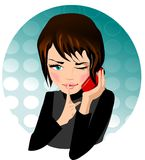 Telephone conversation. Stock Photography