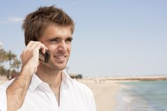 Telephone conversation Royalty Free Stock Photos
