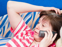 Telephone conversation Royalty Free Stock Photos