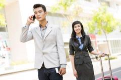 Telephone conversation Stock Photography